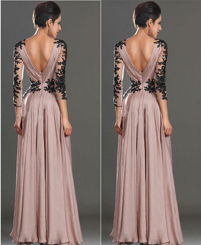Lace halter evening party dress long section