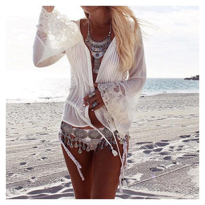 Beach Wind Metal Tassel Waist Chain Vintage Bohemian Belt