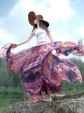 High Waist Floral Chiffon  Beach Skirt Female Bottom