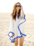 Lace Blouses Chiffon Summer Tassel Beach Top