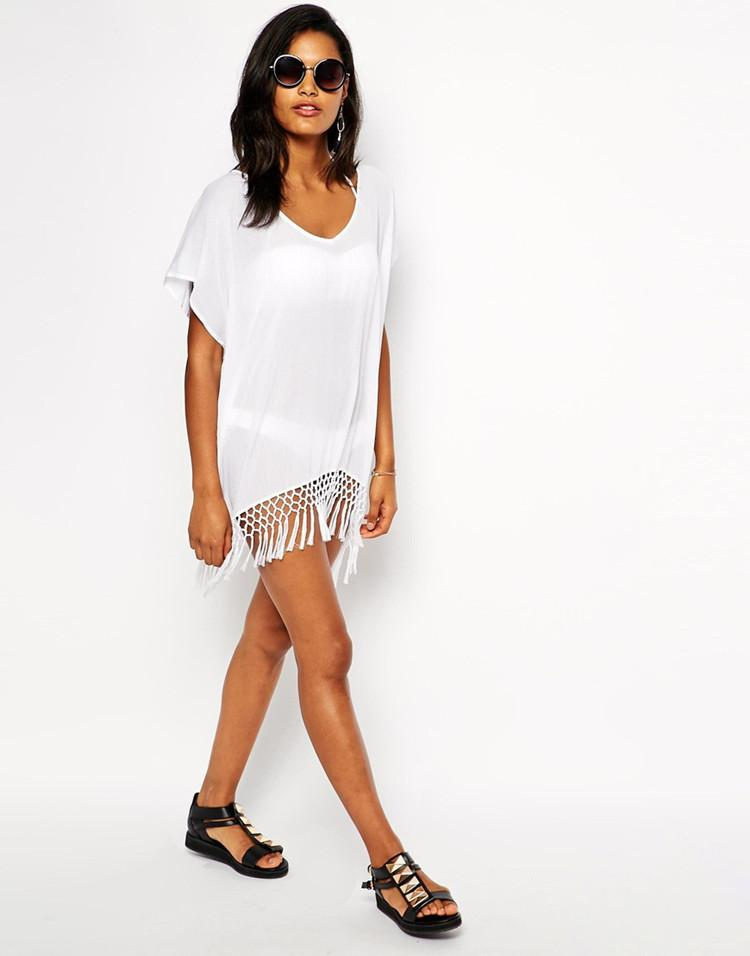 Chiffon Fringed Bikini Anti-Smashing Cover Ups