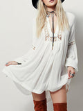 Women Chiffon beach casual lace sexy lantern sleeve Dresses