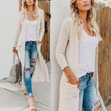 Fashion Button Long-sleeve Knit Cardigan-2color