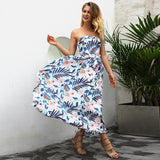 Floral Sexy Off Shoulders long Beach Maxi Dress