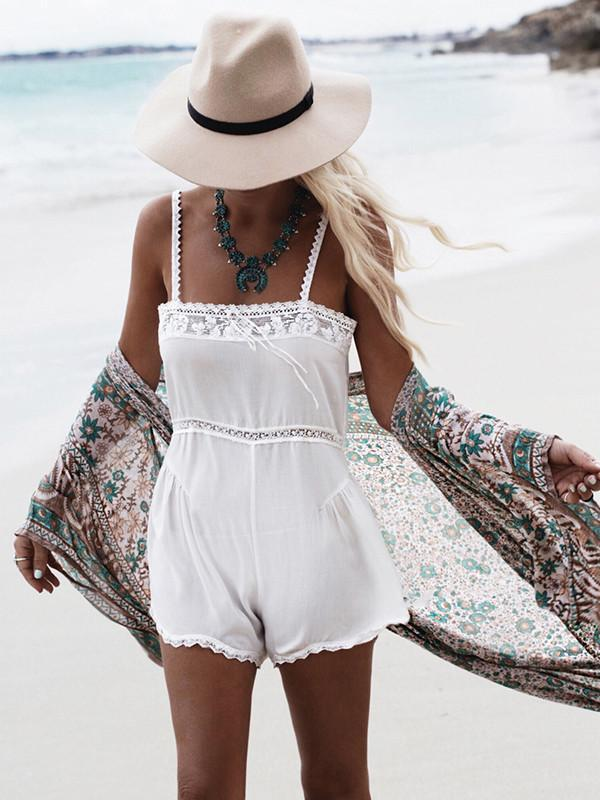 Boho Summer Beach Blouse Swimsuit Cover up Top