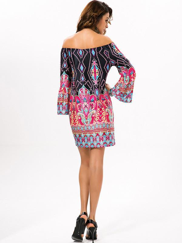 Women Bohemian short party boho Plus Size Dress