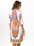 Women Print Plus Size Boho Fabric Summer Sexy Dress