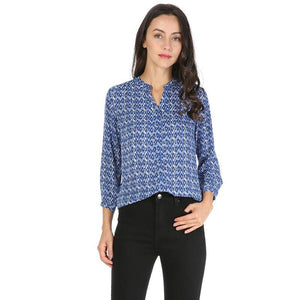 Women chiffon vintage shirts blouses Three Quarter sleeve casual Tops