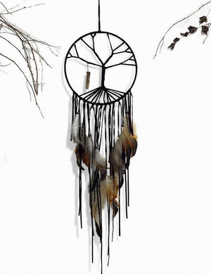 Tree of Life Dreamcatcher Indoor Ornament Crystal Amulet