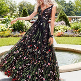 Spaghetti Strap Floral Evening Dresses