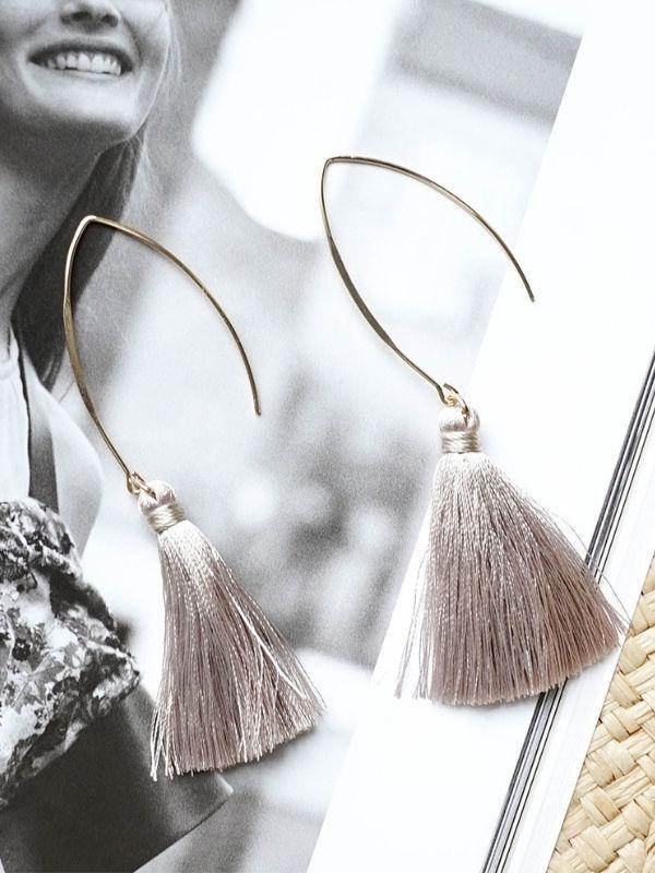 Beach holiday tassel earrings