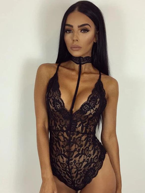 Sexy bodybuilding sexy lingerie lace bodysuit