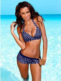 Polka Dot Printed Sexy Beach Bikini Suits