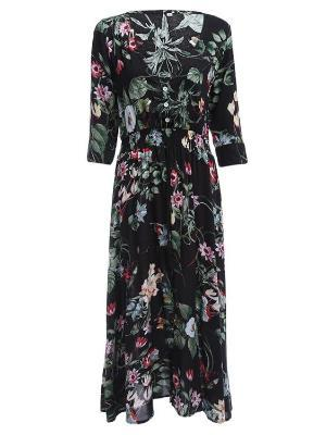 Women Floral Print Casual Bohemian Maxi dress