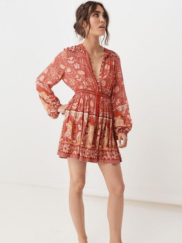 Women Summer Sexy Bohemian Beach Sundress