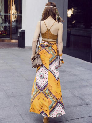 Bohemian Two Piece Beach Maxi Dress