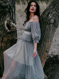 Bohemian Beach Off Shoulder Maxi Dress