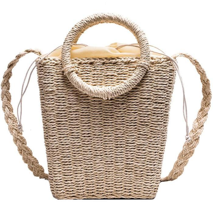 Bohemia Plain Knitte Barrel-Shaped Tote Bags