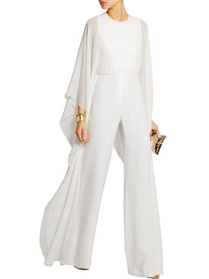 Wide Leg Pants ChiffonStitching Jumpsuit