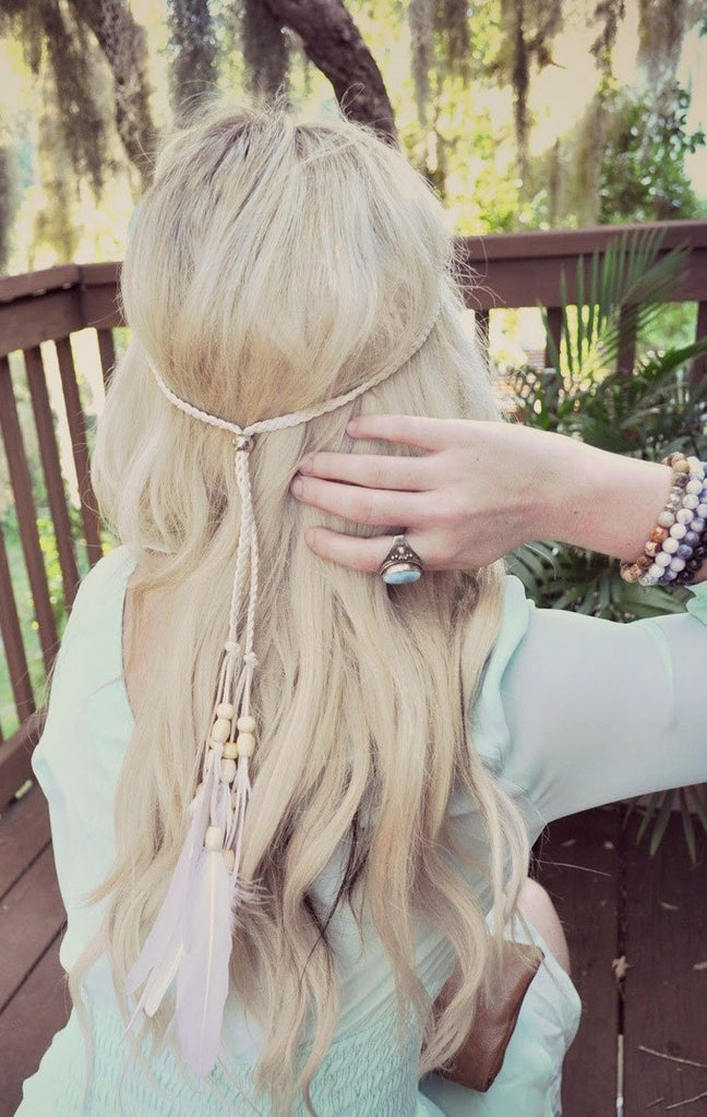 Bohemian Ethnic Wind Indian Hippie Tassel Hairpin Feather Hair Accessories