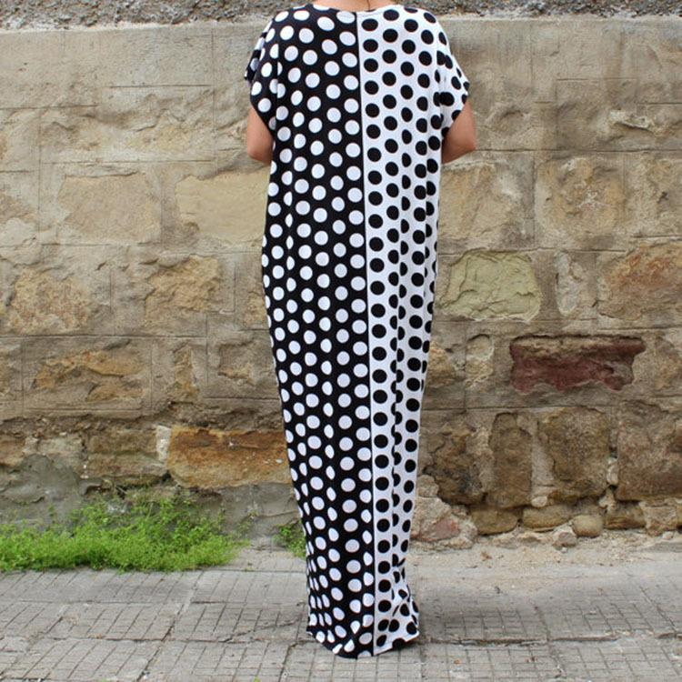 Polka Dots Black and White loose Dress