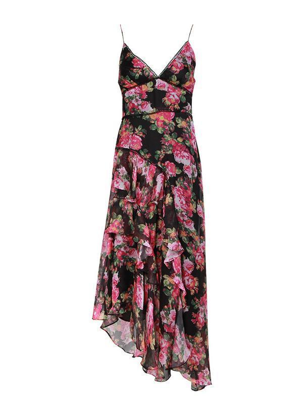 Sexy Sleeveless Floral Boho Maxi Dress