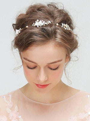 Garlands Of Pearl And Crystal Hair Accessories