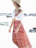 Women Skirt Boho Chiffon Summer Sexy Split Bohemian Bottom