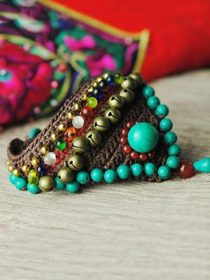 Handmade Turquoise Wax String Bracelet Accessories