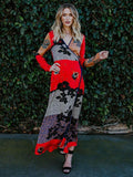 Bohemian Fashion Long Sleeves Outwear Maxi Dress