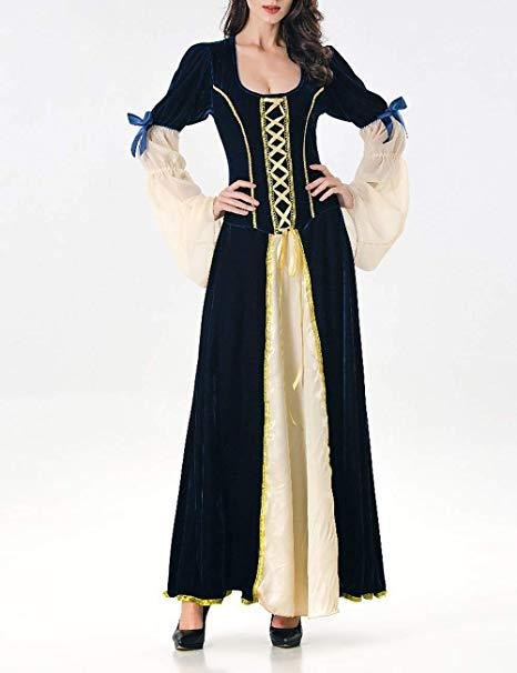 Halloween Costume Adult Cosplay Magic Dress Long Court Queen