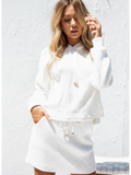 Fashion Solid Color White Suit Sets