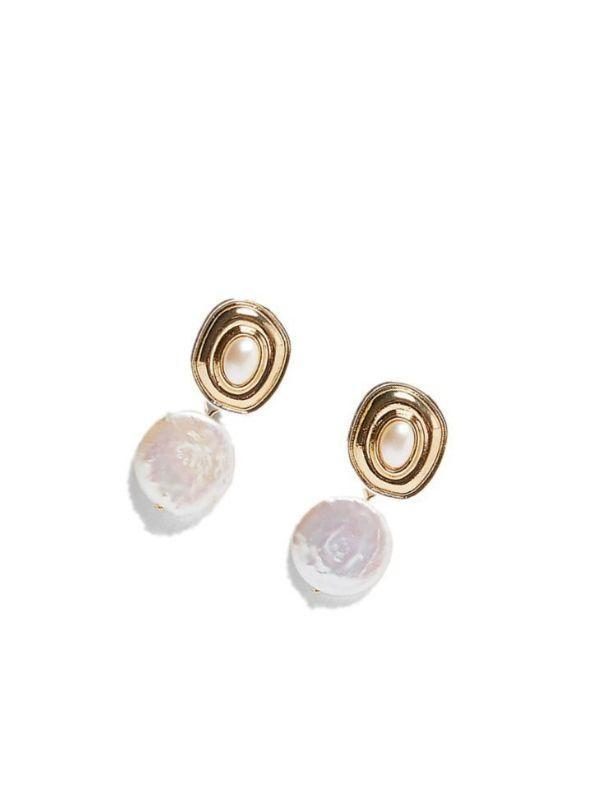 Bohemian shell metal earrings