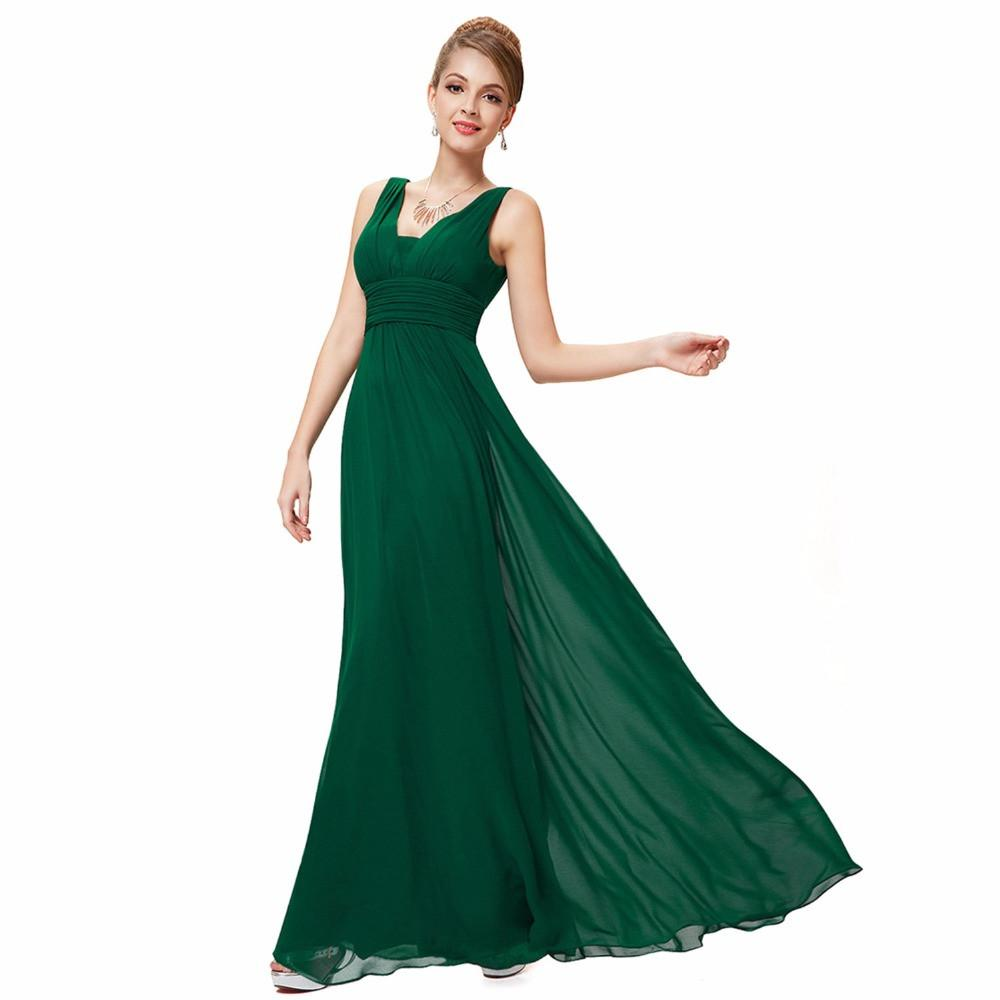 Woman Formal Elegant Deep Vneck Maxi Evening Dresses