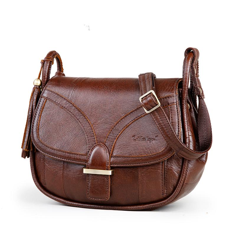Women Genuine Leather Vintage Single Shoulder Bag