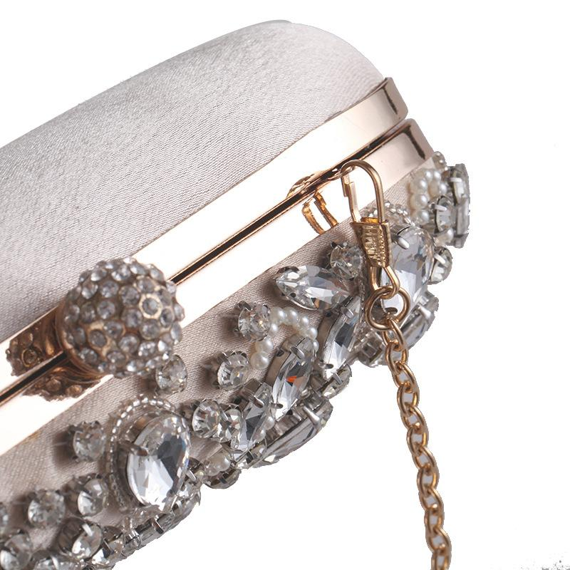 Unique Evening Clutch Bag with Crystal Diamonds