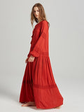 Vintage Bohemia Long Sleeves Maxi Dress