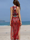 Embroidered Beaded Bohemia Jumper Dress