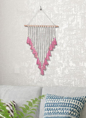 New Macrame Wall Hanging  Tapestry Home Deco Boho Dreamcatcher