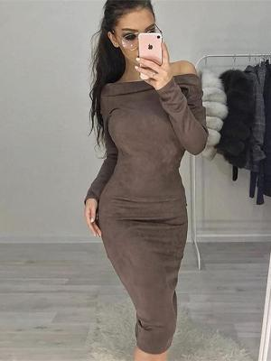 Long Sleeve Off Shoulder Bodycon Party Dresses
