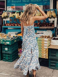 Bohemian Sleeveless Floral Bodycon Maxi Dresses