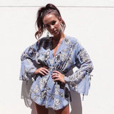 Bohemian Printed Backless Jumpsuits