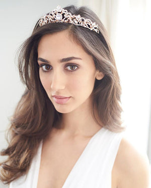 Rhinestone Crown Bridal Headdress Rose Gold Crown Headband Bridal Jewelry