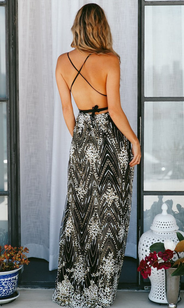 Sexy Backless Bohemia Split Maxi Dress