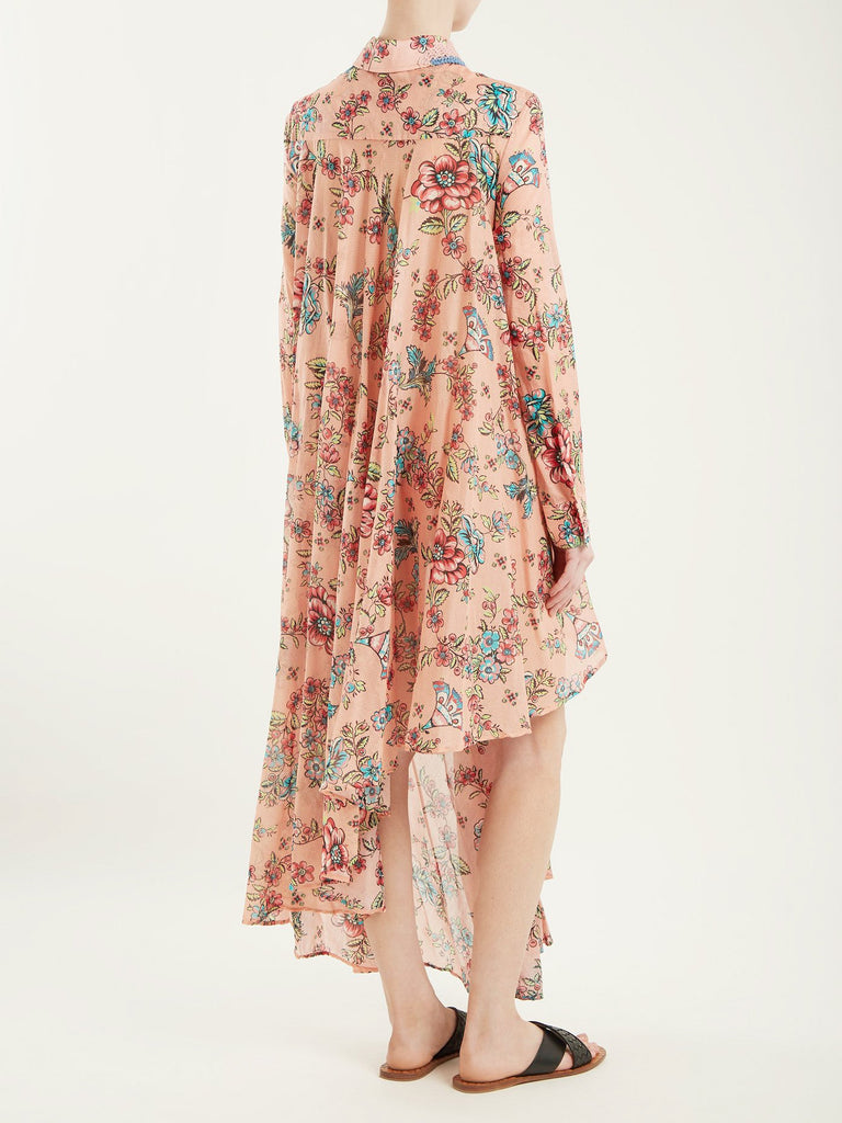 Bohemian style Maxi Long Pink Boho Maxi Dress