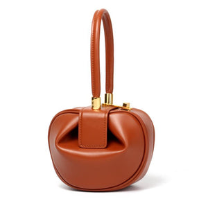 Chic Small Pillow Bags Spherical Genuine Leather Bags Women Designer Handbags High Quality Ladies Tote Bags