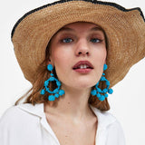 Multi-layer tassel weave fashion Bohemia Earrings