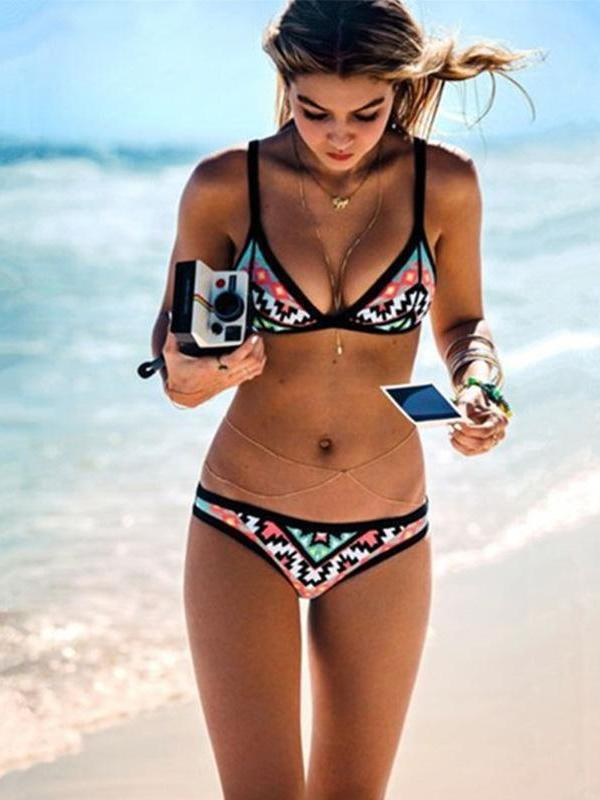 Sexy Floral Printed Bikini Suits-Shopforselection