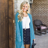 Seven-color Long-sleeved Pocket Cardigan
