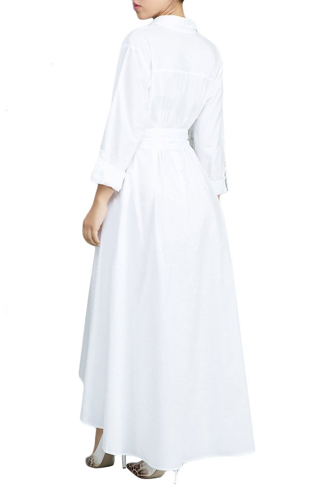 Elegant Long Sleeves Maxi Dress